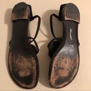 Giuseppe Zanotti Shoes - Giuseppe Zanotti flat thong sandals black and Gold